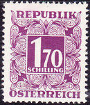 Austria 1949 Postage Due Stamps - Square frame with digit (1st Group) n
