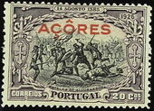 Azores 1926 1st Independence Issue Overprinted r