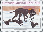 Grenada Grenadines 1988 The Disney Animal Stories in Postage Stamps 3h
