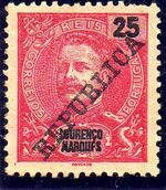 Lourenço Marques 1911 D. Carlos I Overprinted r