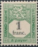 Luxembourg 1907 Postage Due Stamps g