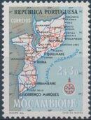 Mozambique 1954 Map of Mozambique e