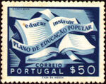 Portugal 1954 National Literacy Campaign a