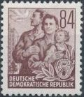 Germany DDR 1953 Workers For The Five-year Plan r