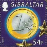 Gibraltar 2002 New coins in Europe g