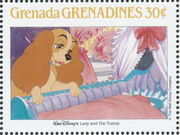 Grenada Grenadines 1988 The Disney Animal Stories in Postage Stamps 5c