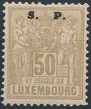 Luxembourg 1882 Industry and Commerce Overprinted k