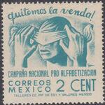 Mexico 1945 Alphabetization Campaign (Regular Mail) a