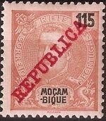 Mozambique 1911 D. Carlos I Overprinted j