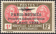 New Caledonia 1933 Definitives of 1928 Overprinted r