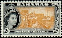 Bahamas 1954 Queen Elisabeth II and Landscapes Issue l
