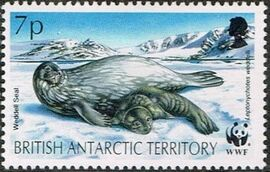 British Antarctic Territory 1992 WWF Seals and Penguins c