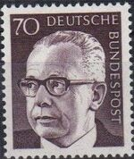 Germany, Federal Republic 1971 President Gustav Heinemann (4th Group) c