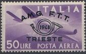 Trieste-Zone A 1948 Trieste Philately Congress-Air Post Stamps g