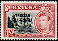 Tristan da Cunha 1952 Stamps of St. Helena Overprinted c
