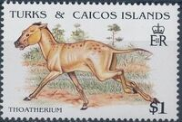 Turks and Caicos Islands 1991 Extinct Animals f