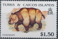 Turks and Caicos Islands 1991 Extinct Animals h