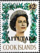 Aitutaki 1972 Flowers from Cook Islands Overprinted AITUTAKI k