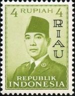 Indonesia-Riau 1960 President Sukarno - Definitives d