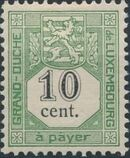 Luxembourg 1907 Postage Due Stamps b