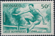 Monaco 1948 Summer Olympics, London - Regular Stamps a