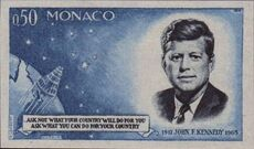 Monaco 1964 Pres. John F. Kennedy and Mercury Capsule b