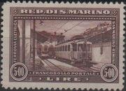 San Marino 1932 New Electric Railway Between San Marino and Rimini d