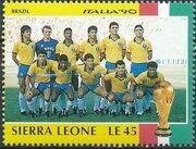 Sierra Leone 1990 Football World Cup in Italy v