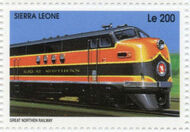 Sierra Leone 1995 Railways of the World j