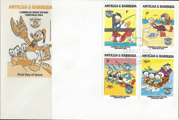 Antigua and Barbuda 1984 Disney - Christmas - 50th Anniversary of the Birth of Donald Duck n