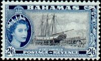 Bahamas 1954 Queen Elisabeth II and Landscapes Issue m