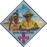 Burundi 1967 60th Anniversary of the Boy Scouts and the 12th Boy Scout World Jamboree d