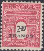 France 1945 Arc of the Triomphe - Allied Military Government i