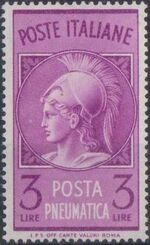 Italy 1947 Pneumatic Post Stamp - Minerva a