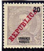 Lourenço Marques 1911 D. Carlos I Overprinted e