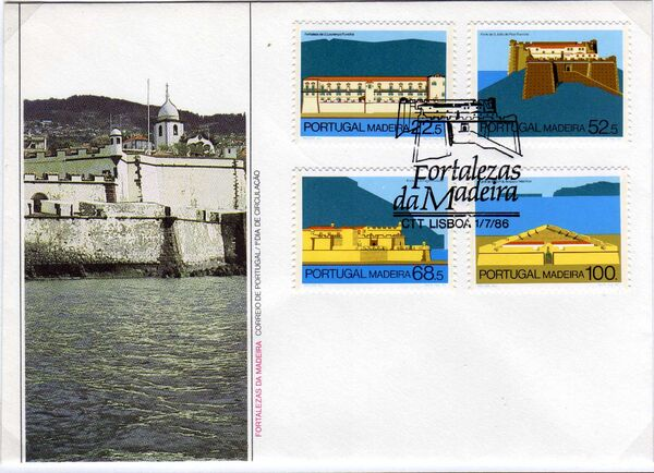 Madeira 1986 Forts in Funchal and Machico e