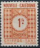 New Caledonia 1948 Numerals (Official Stamps) d