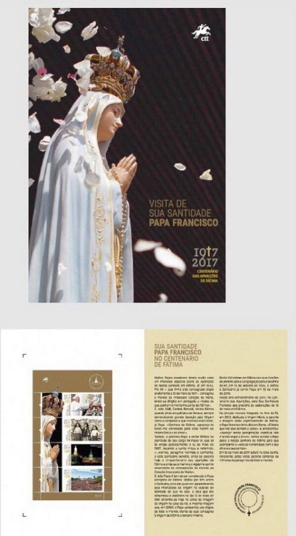 Portugal 2017 His Holiness Francis at the Celebration of the Centennial of the Apparitions at Fatima FOLa