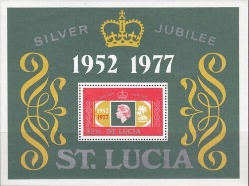 St Lucia 1977 25th Anniversary of the Reign of Elizabeth II SSa