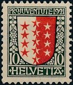Switzerland 1921 PRO JUVENTUTE - Coat of Arms a