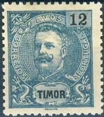 Timor 1903 D. Carlos I - New Values and Colors f