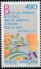 Vatican City 1986 International Peace Year c
