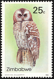 Zimbabwe 1993 Native Owls 2nd Issue a
