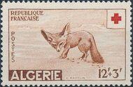 Algeria 1957 Red Cross a