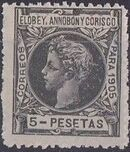 Elobey, Annobon and Corisco 1905 King Alfonso XIII o