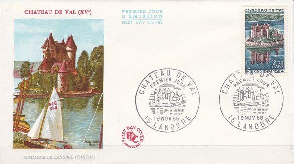 France 1966 Tourism - Val Chateau FDCa