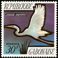 Gabon 1971 Birds a