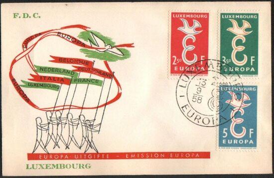Luxembourg 1958 Europa o