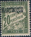 Martinique 1927 Postage Due Stamps of France Overprinted c