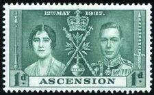 Ascension 1937 George VI Coronation a